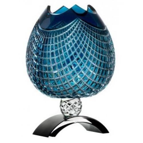 Krištáľová váza Quadrus, farba azúrová, výška 316 mm