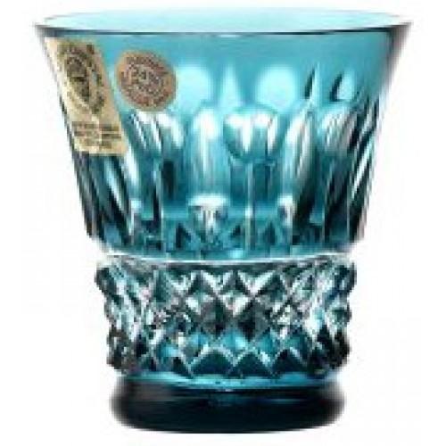 Krištáľový pohárik Tomy, farba azúrová, objem 50 ml