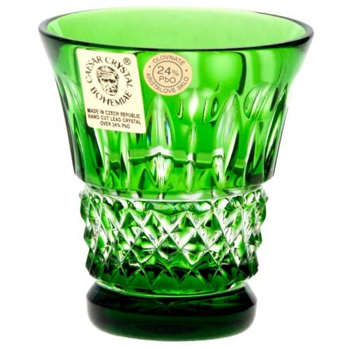 Krištáľový pohárik Tomy, farba zelená, objem 50 ml