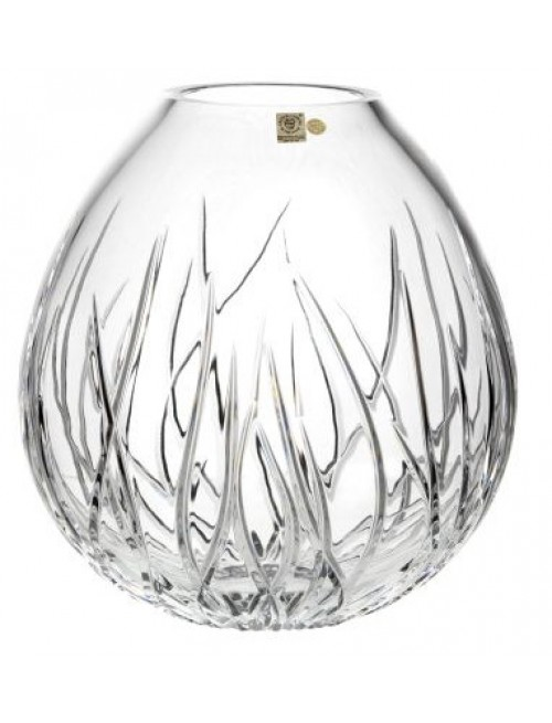Krištáľová váza Morské riasy, farba číry krištáľ, výška 280 mm