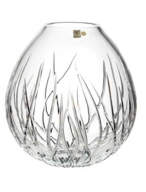 Krištáľová váza Morské riasy, farba číry krištáľ, výška 210 mm