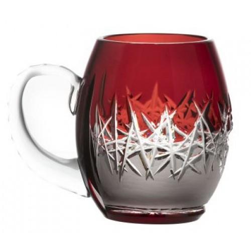 Krištáľový pohár Hoarfrost, farba rubínová, objem 300 ml