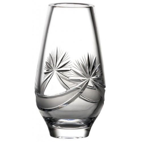 Krištáľová váza Mašľa, farba číry krištáľ, výška 200 mm