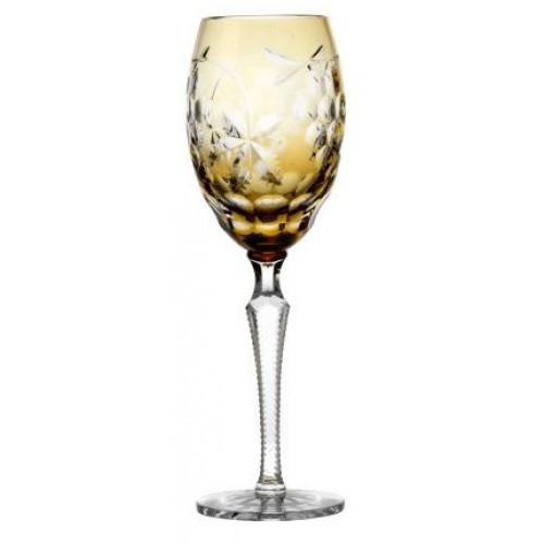 Krištáľový pohár na víno Grapes, farba jantárová, objem 280 ml