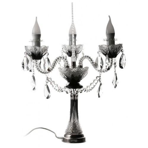 Krištáľová lampa Flowerbud S3 C, barva čierna