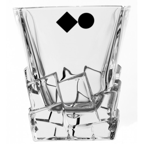 Krištáľový pohár Crack, farba číry krištáľ, objem 310 ml