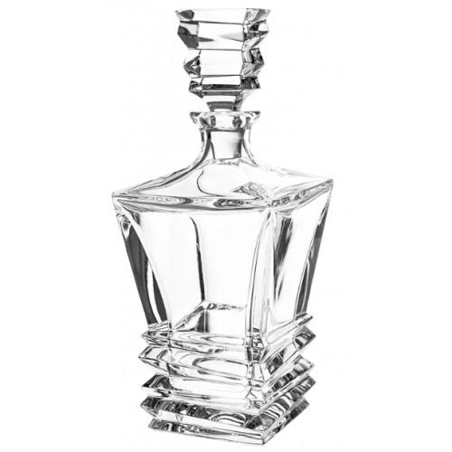 Krištáľová fľaša Rocky, farba číry krištáľ, objem 850 ml