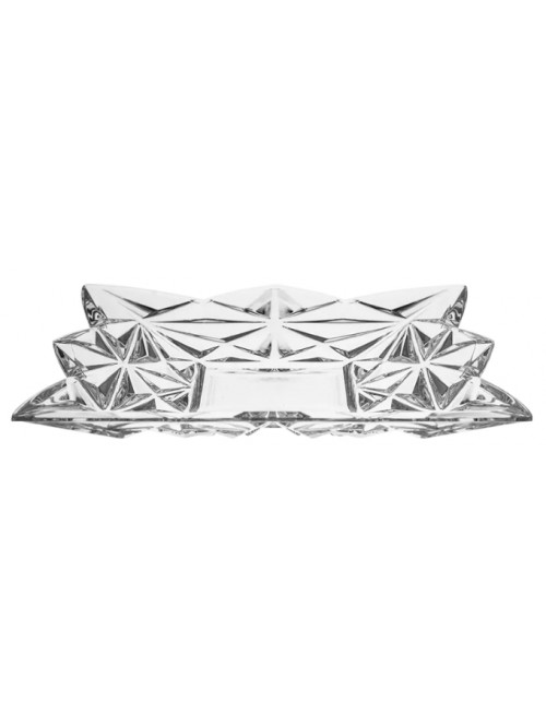 Krištáľový tanier Pyramida, farba číry krištáľ, priemer 305 mm