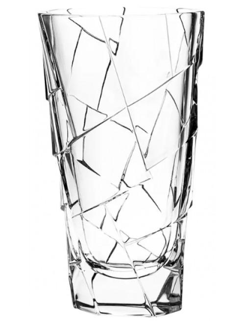Krištáľová váza Crack, farba číry krištáľ, výška 305 mm