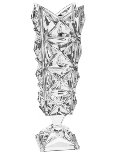 Krištáľová váza Pyramida, farba číry krištáľ, výška 382 mm