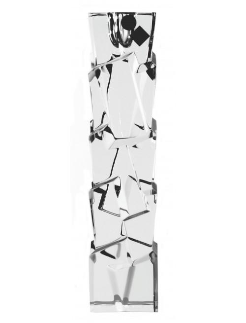Krištáľový svietnik Crack, farba číry krištáľ, výška 230 mm