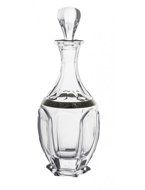 Fľaša Safari platina, bezolovnatý crystalite, objem 800 ml