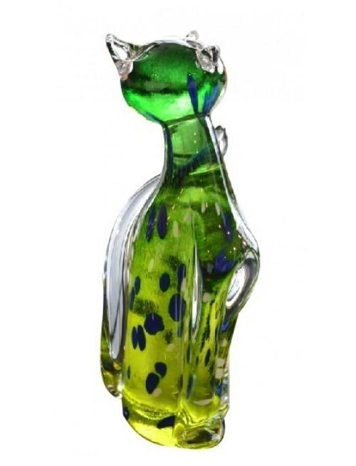 Mačka, hutné sklo, výška 170 mm