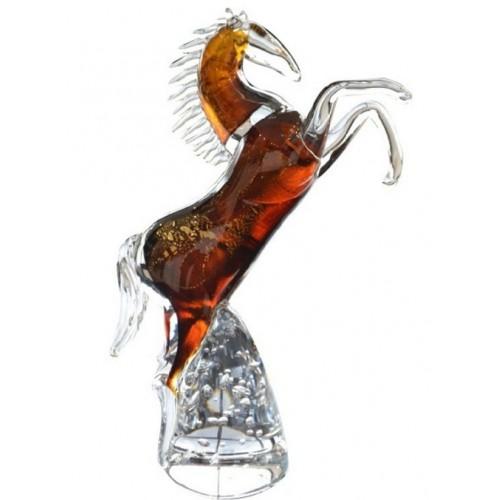 Kôň, hutné sklo, výška 340 mm