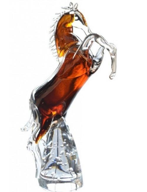 Kôň, hutné sklo, výška 360 mm