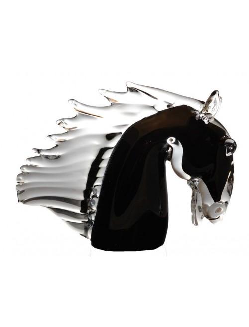 Hlava koňa, hutné sklo, výška 220 mm
