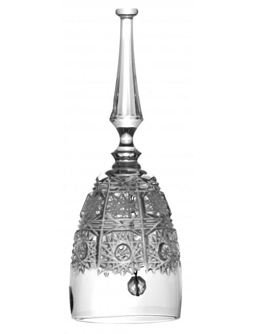 Krištáľový zvonček 500PK, farba číry krištáľ, výška 95 mm