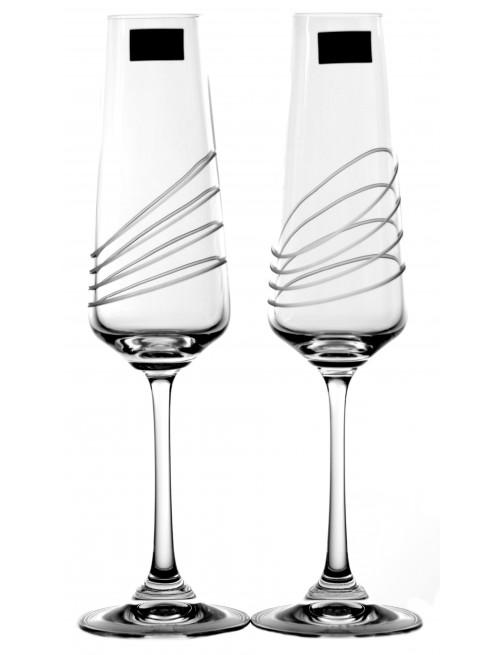 Set pohár na víno Naomi 2x, číre sklo - bezolovnaté, dekorované, objem 160 ml