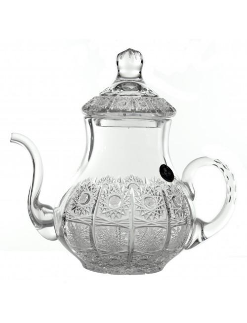 Krištáľová čajová kanvica 500PK, farba číry krištáľ, veľkosť 140 mm