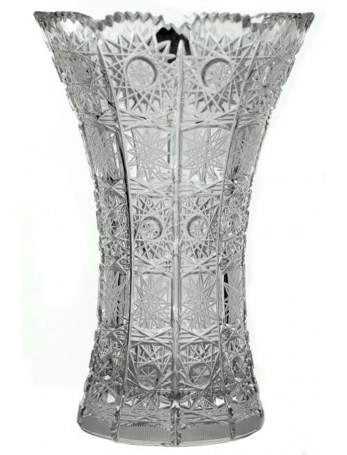 Krištáľová váza 500PK, farba číry krištáľ, výška 155 mm
