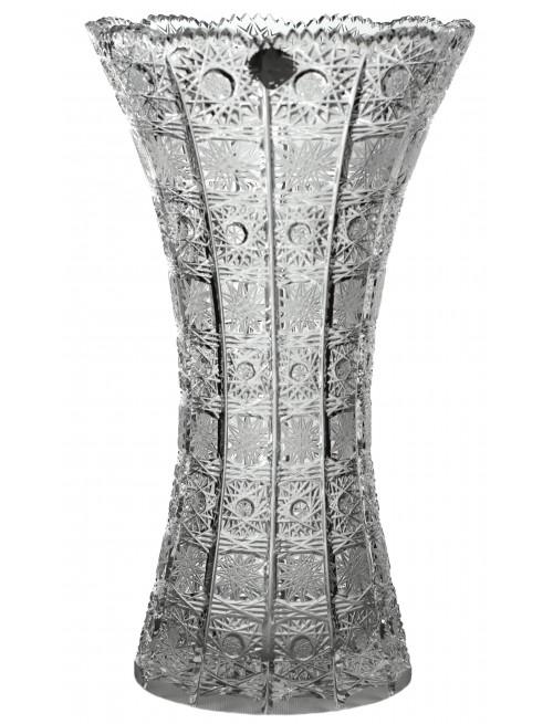 Krištáľová váza 500PK III, farba číry krištáľ, výška 305 mm
