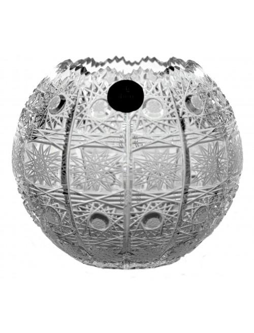 Krištáľová váza 500PK III, farba číry krištáľ, výška 132 mm