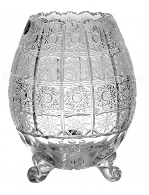Krištáľová váza 500PK III, farba číry krištáľ, výška 205 mm