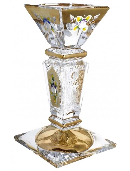 Svietnik 500K Zlato, bezolovnatý crystalite, výška 205 mm