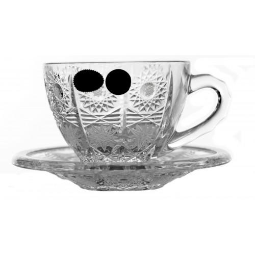 Krištáľový set čajové hrnčeky 6 + 6, 500PK, farba číry Krištál