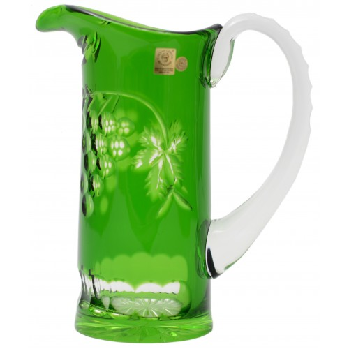 Krištáľový džbán Grapes, farba zelená, objem 900 ml