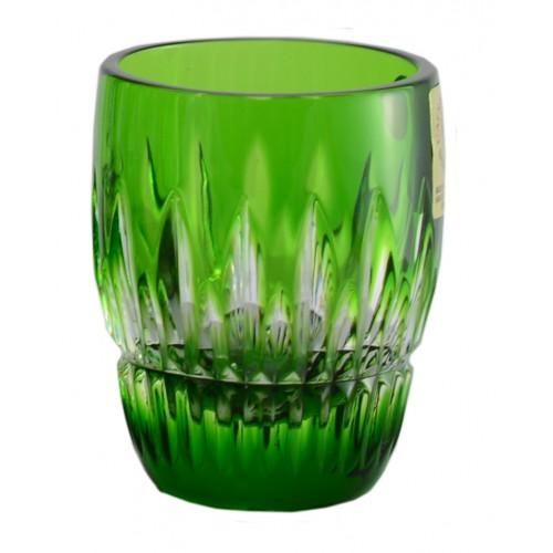 Krištáľový pohárik Thorn, farba zelená, objem 50 ml