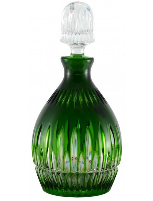 Krištáľová fľaša Thorn, farba zelená, objem 700 ml