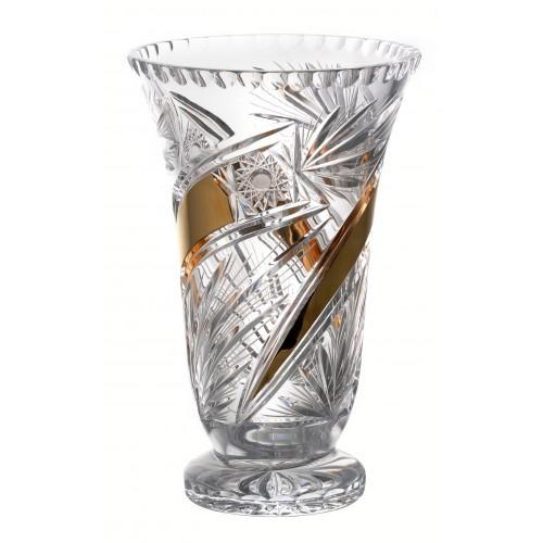 Krištáľová váza Kométa Zlato, farba číry krištáľ, výška 305 mm